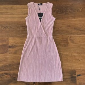 NWT Missguided Blush Dusty Rose Ribbed Dress